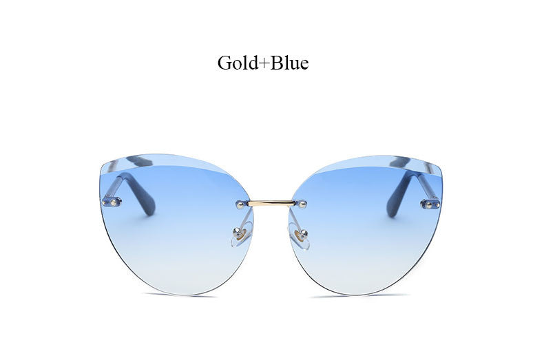 Rimless Colored Lens Eye Wear - 5 Color Options