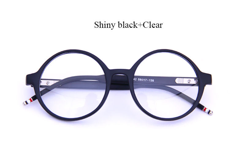 Round Clear Frames - 3 Color Options