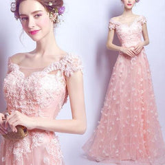 Butterfly Kisses Soft Pink Gown - Soft Pink Floor Length Floral Gown