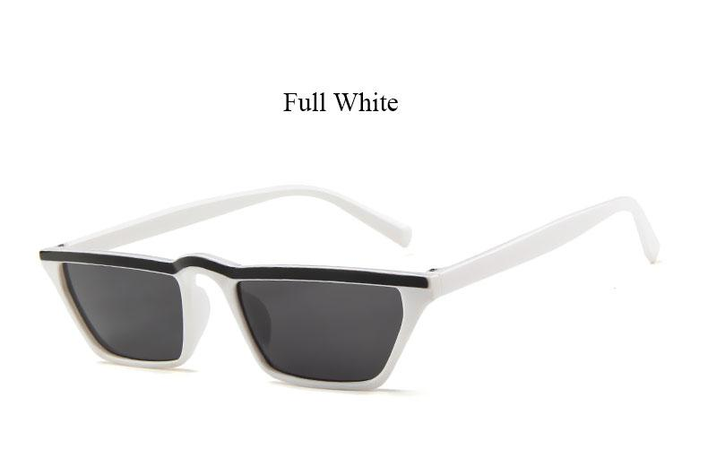 Dupe Eye Wear -8 Color Options - Small Frame with Stripe on Top Sunglasses - Slim Cat Eye Sunglasses