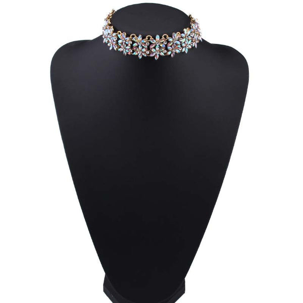 Choker - Flower - Opal Crystals Color Changing