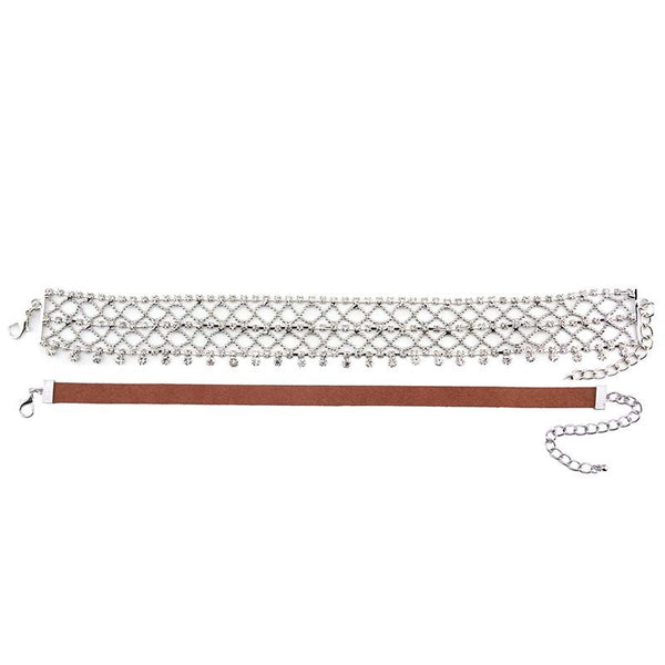 Holiday - Netted Crystal Choker w/ Brown Choker Included