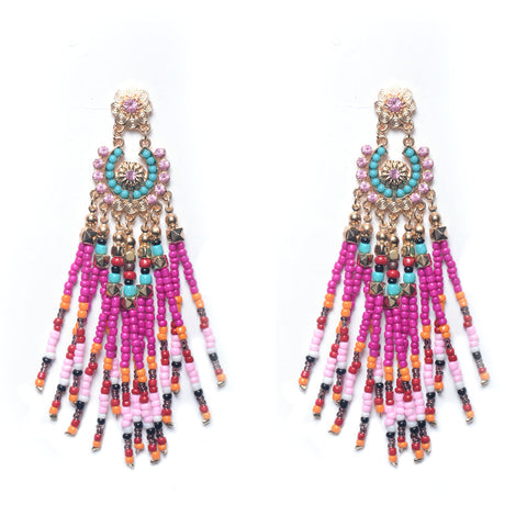 Beaded Boho Earrings - 4 Color Options