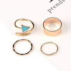 Arrow Ring Set - 4 Pieces - Gold or Silver