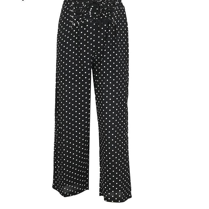 Polka Dot Casual Wide Leg Pant in White or Black - Trending - Only $30 with the code MINE
