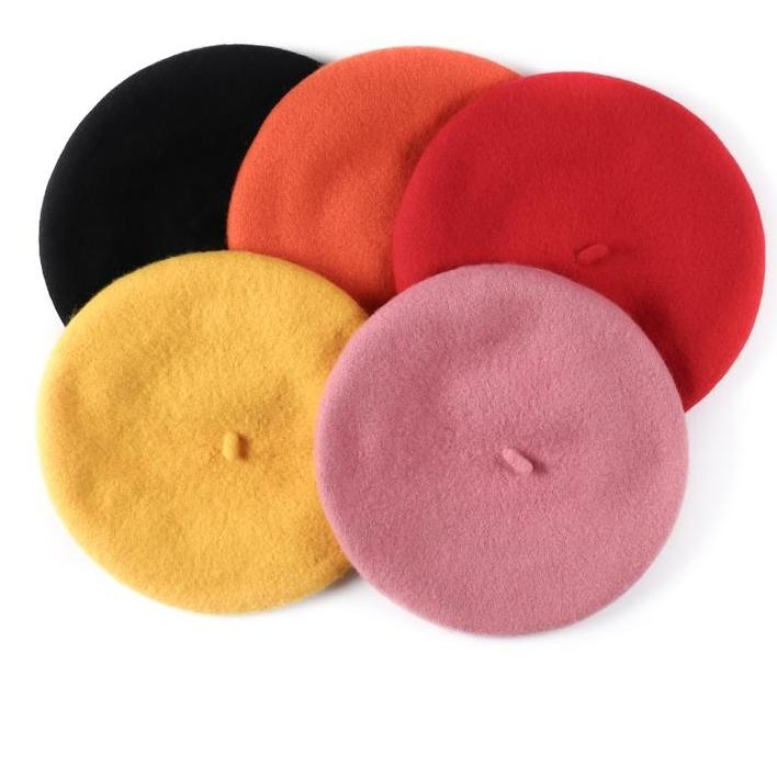 Casual Wool Beret - Choose your color beret - Red Beret, Black Beret, Pink Beret