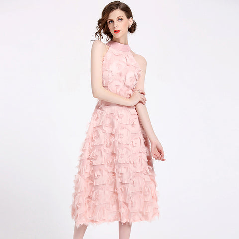 Pink Blush Couture Day Dress - Details