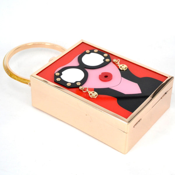 Old School Handbag - Black, Red or White
