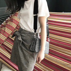 Black and White Cross Over Handbag
