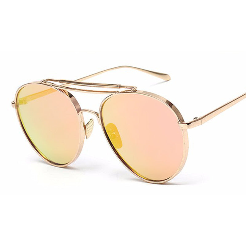Oversized Aviators - Mirrored and Clear Lens - 9 Color Options - X104