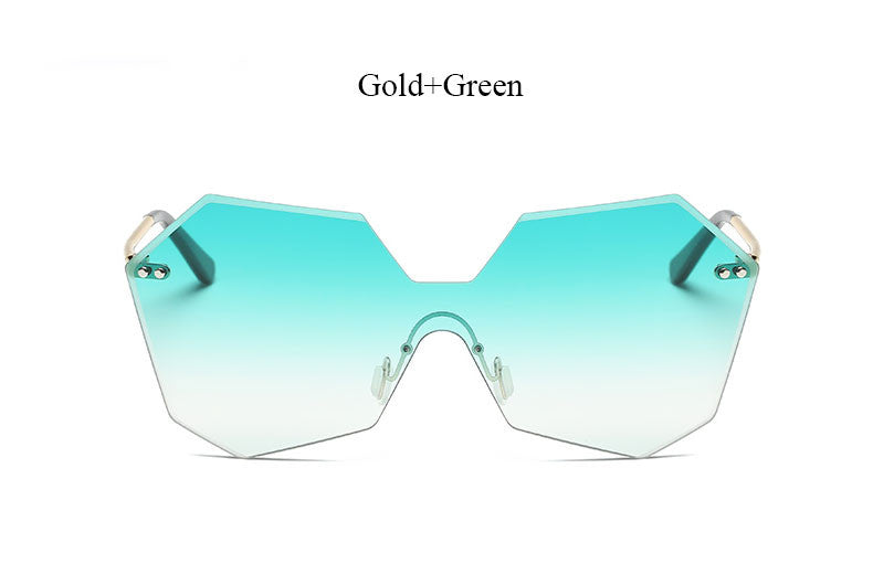 Colored Clear Lens Geometric Eye Wear - 8 Color Options
