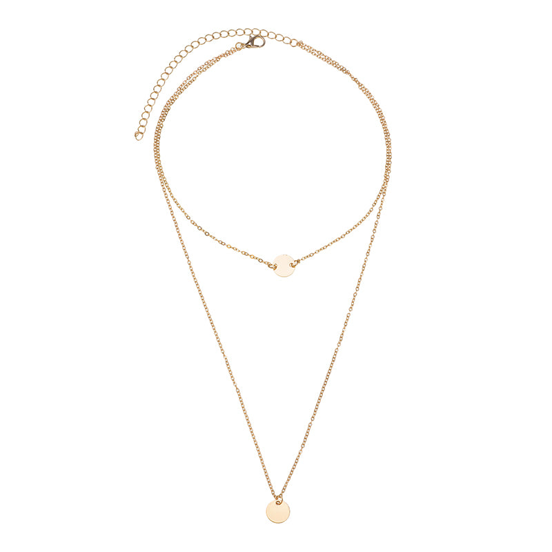 gift girl gold jewelry necklaces from chain fashion bijoux moon women necklace star simple long pendant color item for in