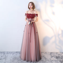 Red Carpet Runway Handmade Couture Dark Red Gown - Floor Length Blood Red Gown