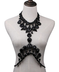 Black or Silver Body Chain