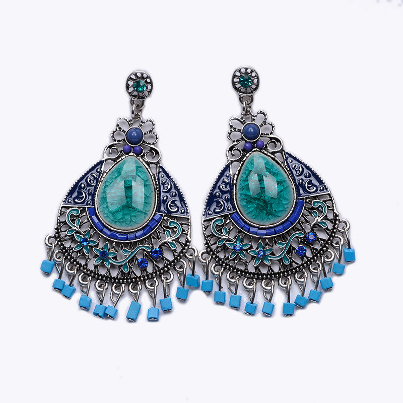 Bohemian Earrings - Green or Red – Mirina Collections