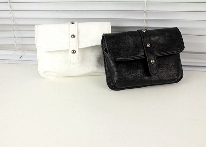 Studded Fanny Pack - Black or White