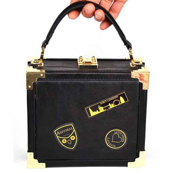 Black and Gold Stitching Handbag