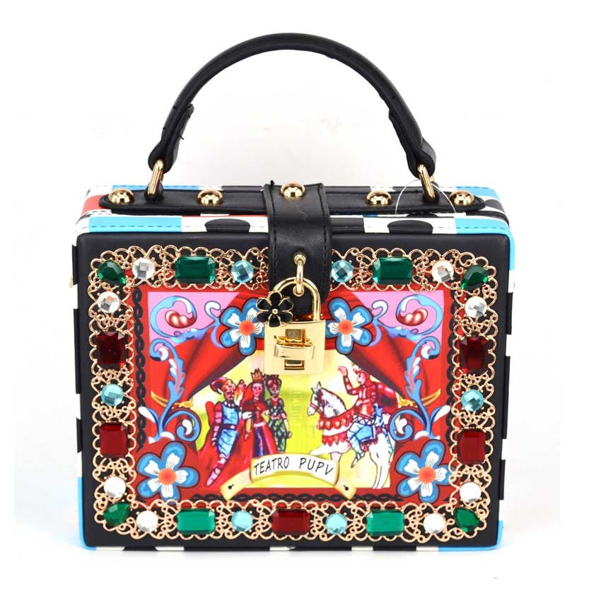 Detail is in Handbag - Colorful with Gold Details