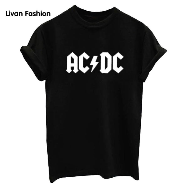 AC DC Famous Tee - Black, White or Gray