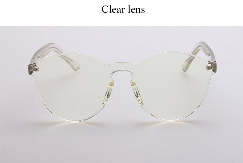 Small Framed Colored Lens Eye Wear
