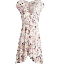 Floral Summer Dress Women - V Neck