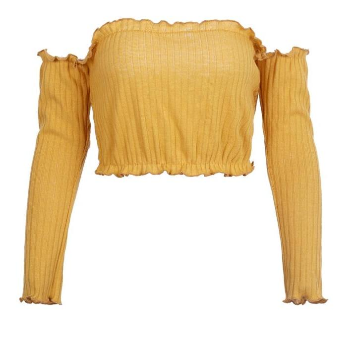 Ruffled Must Have Crop Top - Every Color Option!