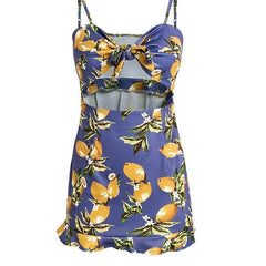 Tie Up Beach Day Dress print