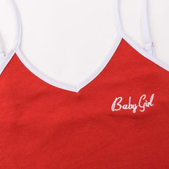 Baby Girl Cotton Body Suit - Black or Red Baby Girl Graphic Sleeveless Body Suit