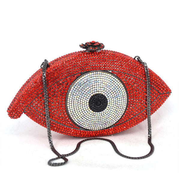 Evil Eye Red w/ Silver - Crystal Details