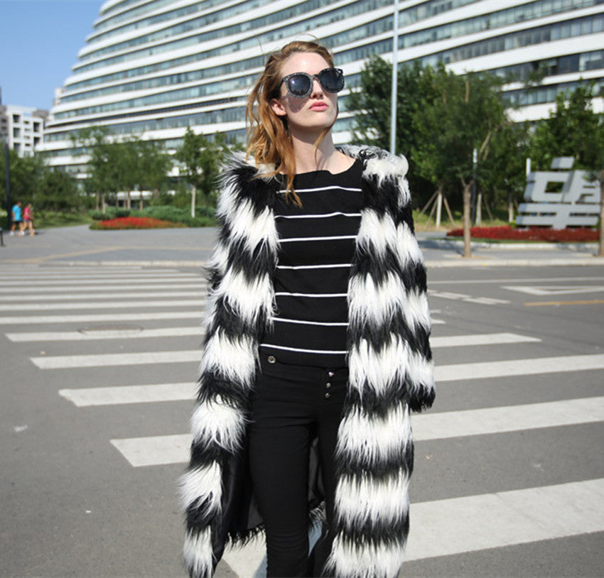 Black and White Shag Jacket