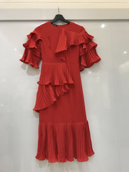Red Ruffled Dress - Limited Edition - As seen on Selena Gomez!