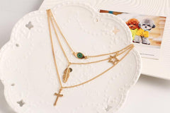 Evil Eye Simple Gold Layered Necklace - Delicate Gold Necklace