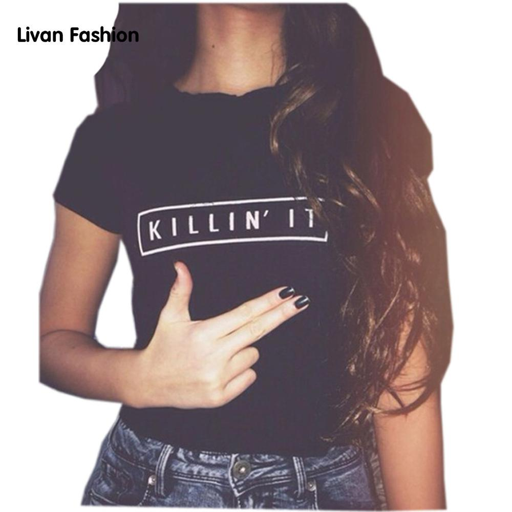 Killin It Graphic T Shirt - Womans Graphic T Shirt KILLIN IT