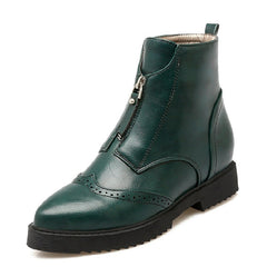 Ankle Boots - Green, Brown and Black