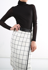 Black and White Symmetrical Skirt