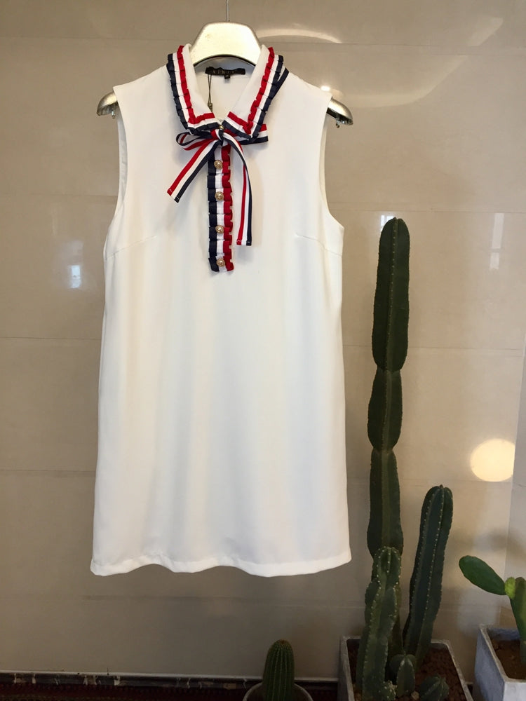 Not so Basic Tennis Dress White - Under $49 with the code 'MINE'