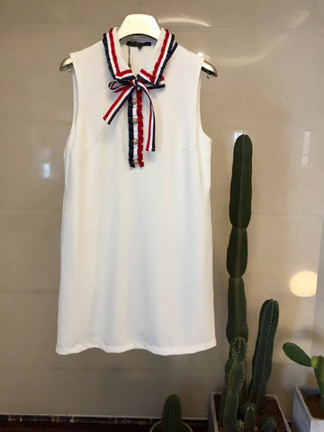 Not so Basic Tennis Dress White - Under $49 with the code