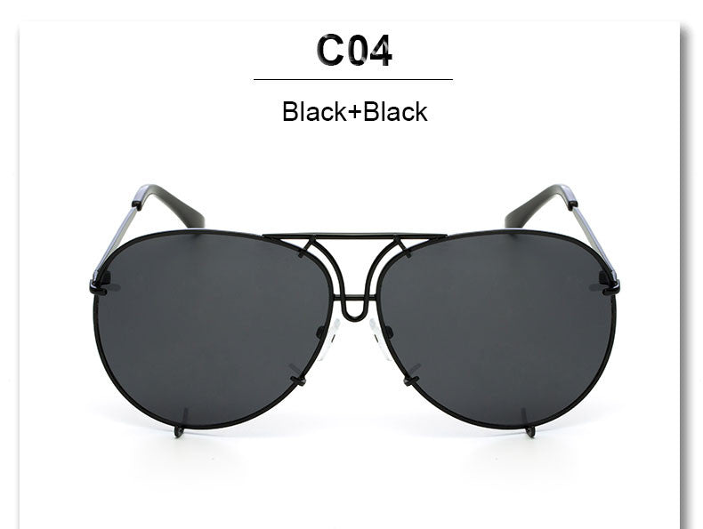 Oversized Studded Aviator Sunglasses - 7 Color Options