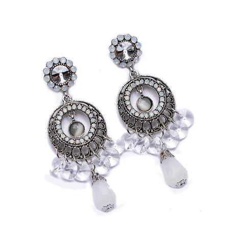 Crystal Vintage Statement Earrings