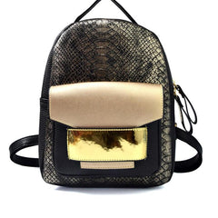 Snake Backpack - High Quality Snake and Shimmer Handbag - *3 DIFFERENT COLOR OPTIONS