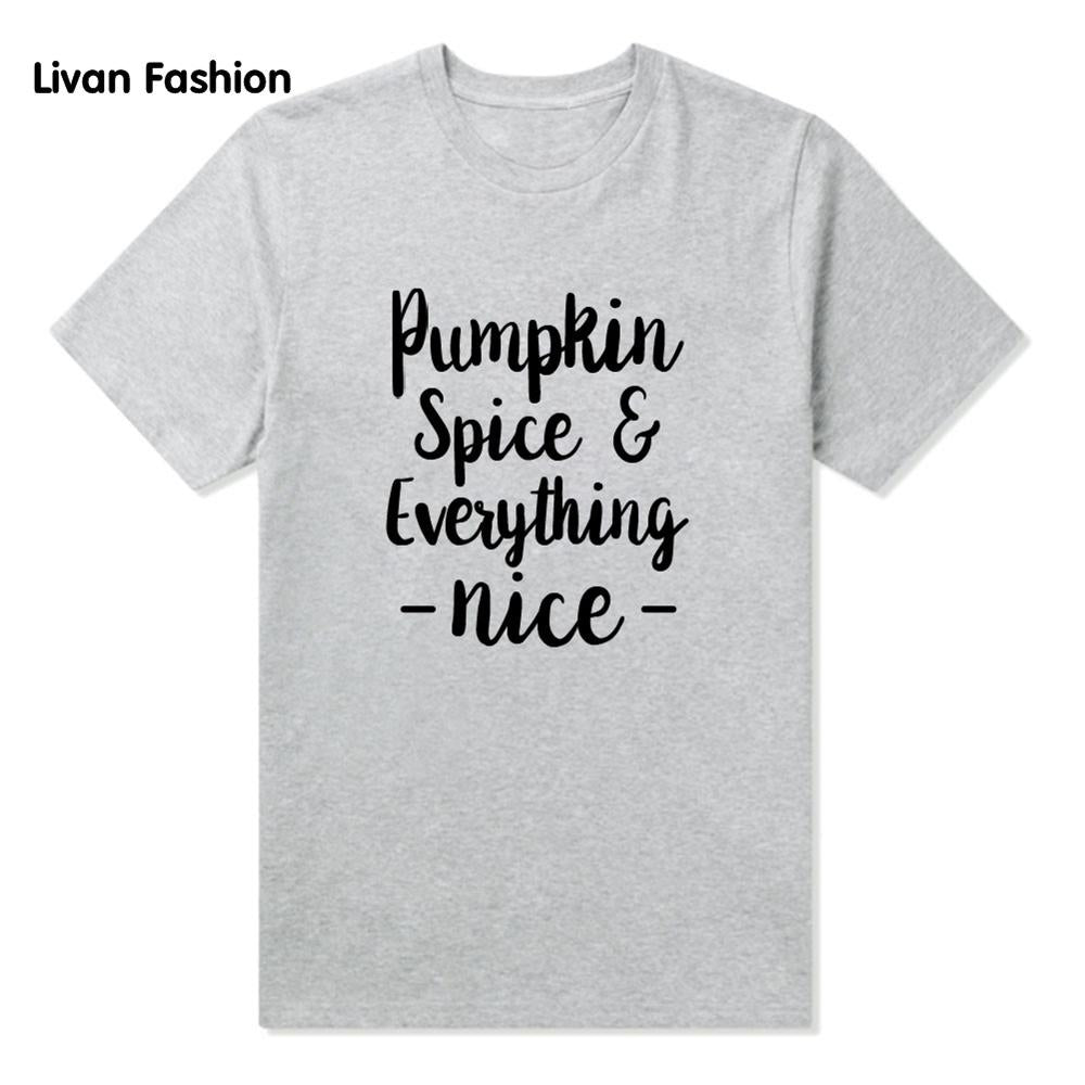 Pumpkin Spice Famous Tee - Black, White or Gray