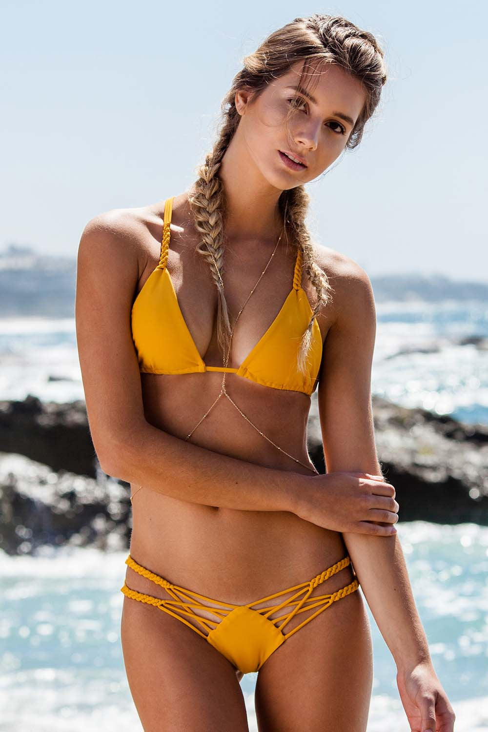 String Bikini - Orange / Mustard