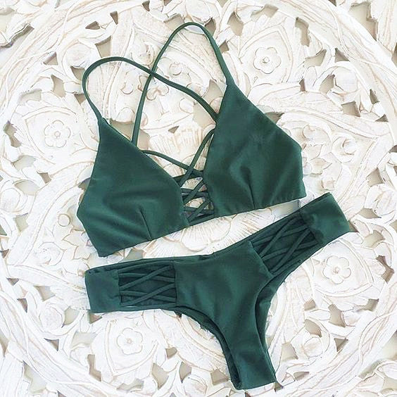 Little Green Bikini Set