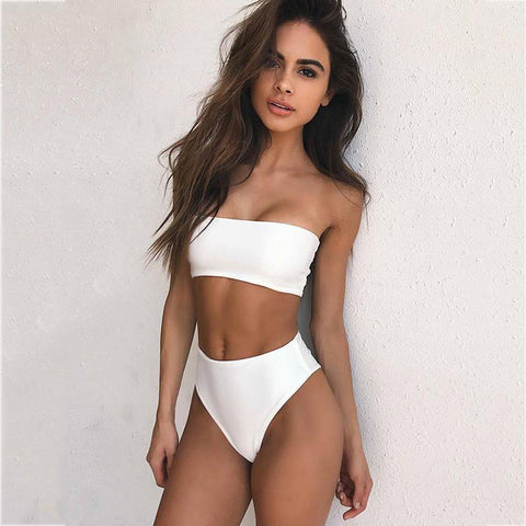 Keep it Simple Bikini Set - Orange, White, Black
