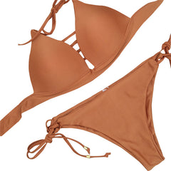 Soul Bikini - Maroon, Blue, Orange, Gray