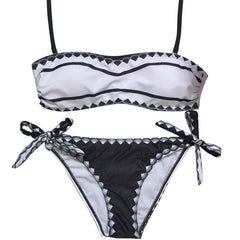 A Must Have - Black and White 2 Piece Swimwear