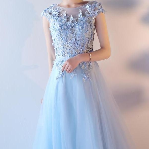 Floor Length Handmade Beading Gown - Gown 'Rue de Seine' in pink, blue, red,