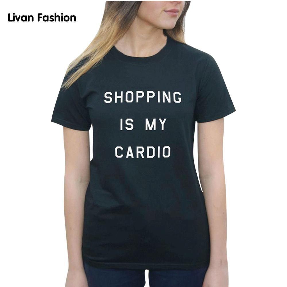 Shopping is my Cardio Famous Tee - Black or White