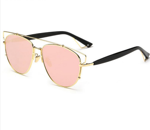 Mirina Sunnies - Gold w/ Rose Gold Lens - W004 - GOLDPINK