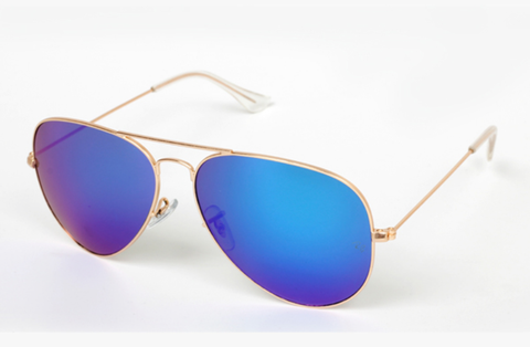 Brooklyn Gold w/ Blue Lens - XXX115 - GOLDBLUE